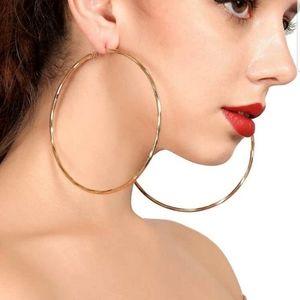 New glamorous round gold hoop earrings